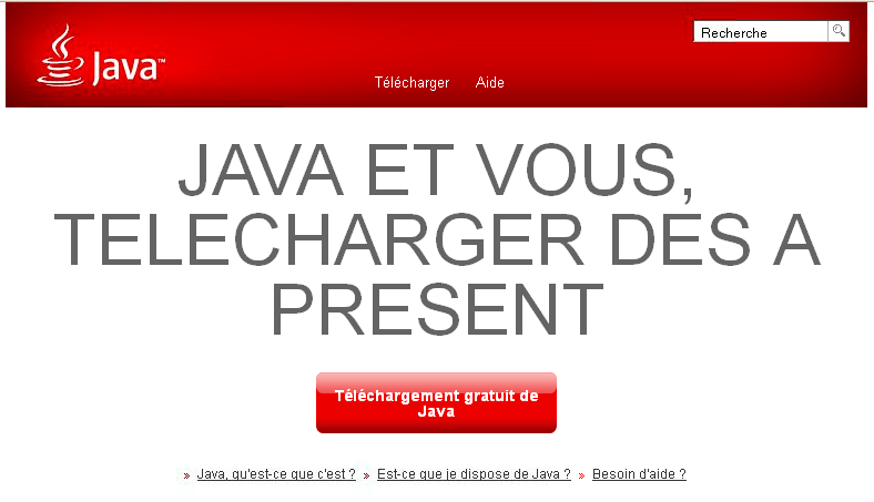 Mise a jour java update 60 (v1.7u60) disponible