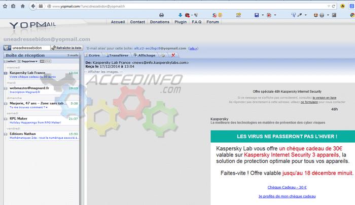 Accedinfo.com | Yopmail, une adresse mail jetable en ...