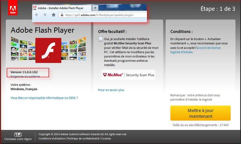 flash player 13.0.182 téléchargement
